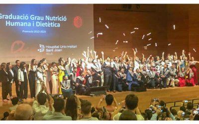 Acte de graduació de Dietistes-Nutricionistes a la Universitat Rovira i Virgili