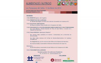 Jornada Alimentació i Nutrició- Unió de Consumidors de Catalunya