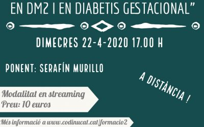 "Xerrada ""com gestionar, en la situació actual, un debut en DM2 i en diabetis gestacional"""