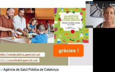 """Webinar: L'alimentació Saludable en l'etapa escolar"""" ASPCAT"""